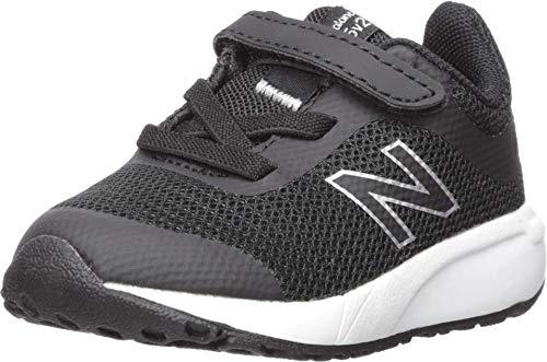 New Balance Kid's 455 V2 Alternative Closure Running Shoe, Steel/Team Royal, 10.5 M US Little Kid