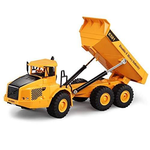 Control Remoto Camiones Articulados, Niños Ingeniería Carro Camión Volquete, Modelo Simulación Toy...