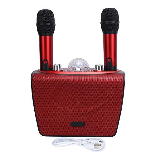 Sxhlseller Micrófono de Karaoke, Altavoz portátil de reducción de Ruido Bluetooth para Karaoke en casa con Sistema de Altavoces inalámbricos de micrófono de Mano(Rojo)