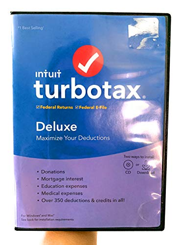 Price comparison product image TurboTax 2019,  Deluxe Federal Efile,  for PC / Mac