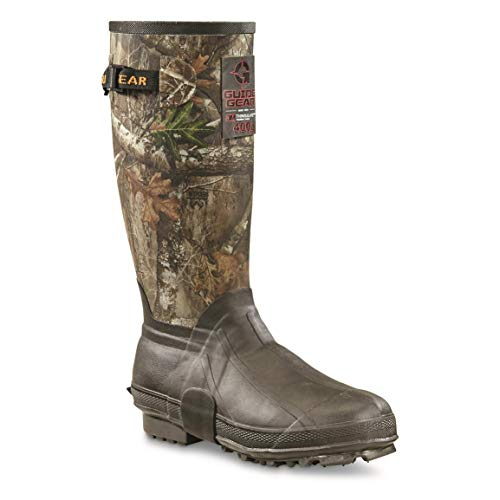 "Guide Gear Men's 15"" Insulated Rubber Boots, 400-grams, Realtree Edge, 9D (Medium)"