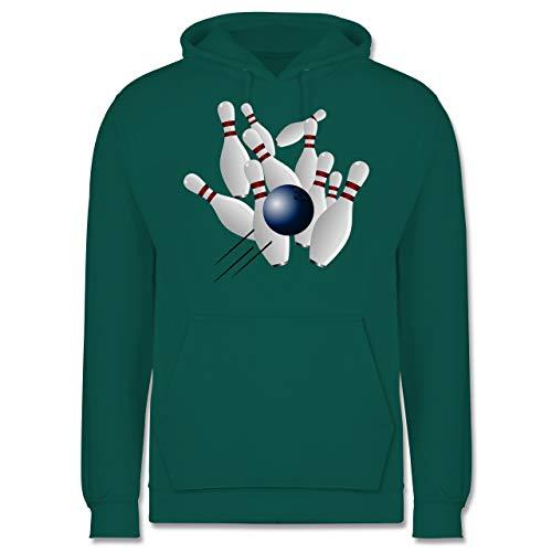 Shirtracer Bowling & Kegeln - Bowling Strike Pins Ball - XS - Türkis - JH001 - Herren Hoodie und Kapuzenpullover für Männer