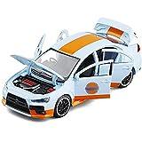 1/32 para L-ancer-E-Volution para E-Vo X 10, Modelo Coche Juguete, Luz Sonido, Colección Juguetes En Miniatura, Vehículo para Regalos Vehículos (Color : White)