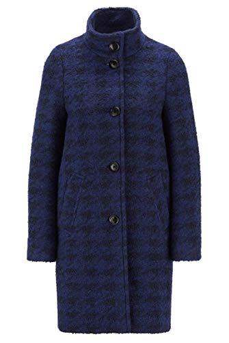 BOSS Damen C Cochilly Mantel aus Bouclé mit Hahnentritt-Muster