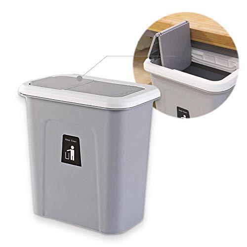 Hängender Abfalleimer, ür-Abfalleimer, Schrank-Abfalleimer, Küchen-Mülleimer, Abfallsammler Multi-Kitchenbox, Push-top Trash Can Hanging, Weiß