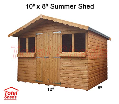 Total Sheds 10ft (3.0m) x 8ft (2.4m) Garden Shed Summer Shed Timber Shed