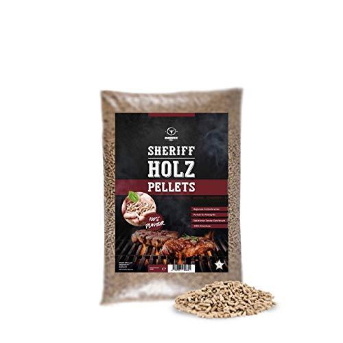 MOESTA-BBQ 19301 5kg Sheriff Hartholz Pellets – Rauch-Aroma für jeden Geschmack – Kirsche – süßlich, Smoky oder Spicy