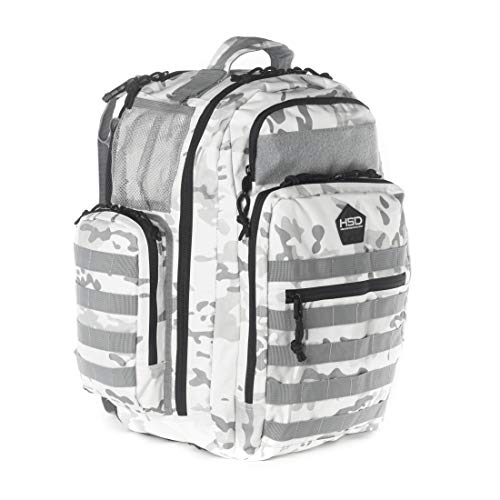 Diaper Bag Backpack for Dad - Large Baby Bag for Men with Travel Changing Pad, Unisex Toddler Gear (White Camo)