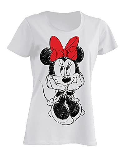 Disney Damen T-Shirt Minnie Mouse Red Bow S