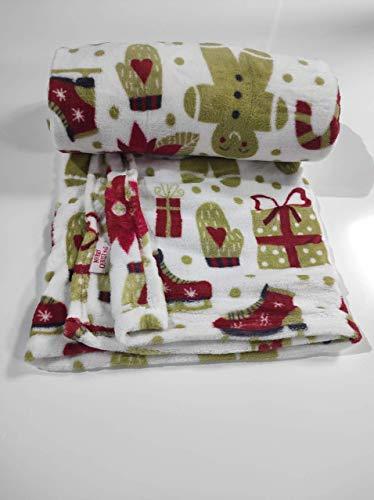 Sibiles - Manta Coral Sofá Navidad Invierno 150x200 cm Merry Christmas KNL201108