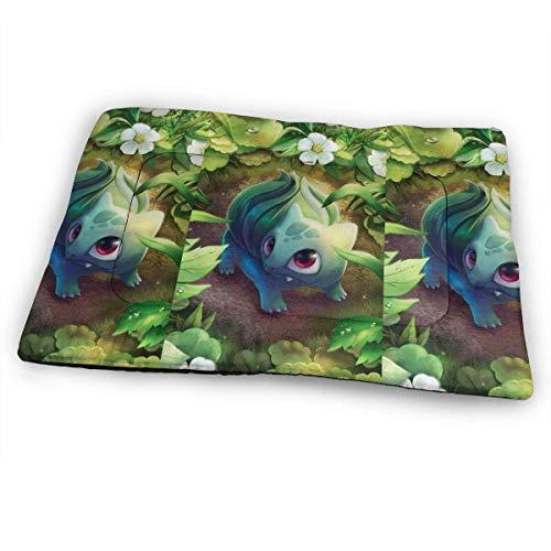 YAGEAD Huge Pet Pad, Bulbasaur Soft Dog Bed Mat, Anti-Slip Pet Kennel Bed for Oversized Pet,31'x21'
