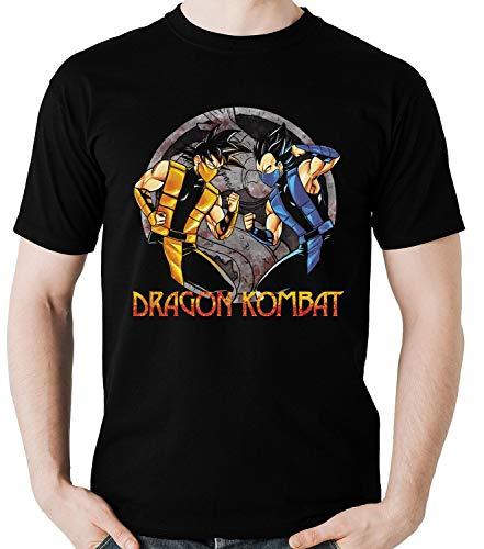 Camiseta Geek Dragon Kombat Goku vs Vegeta Game Anime