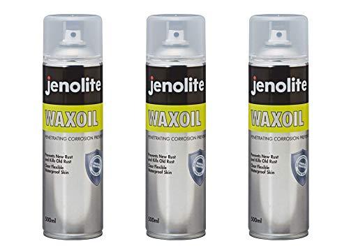 JENOLITE 3 x Waxoil - Waxoyl - Antiruggine - Protezione dalla ruggine - Protezione sottoscocca - 500ml