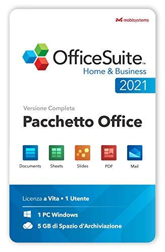 OfficeSuite Home & Business 2021 - Licenza a Vita- Documents, Sheets, Slides, PDF, Mail e Calendar per Windows