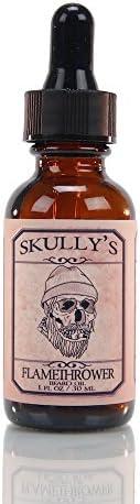 Skully s Flamethrower Beard Oil 1 oz Cinnamon Clove Scented Beard Oil for Men Promotes Beard product image