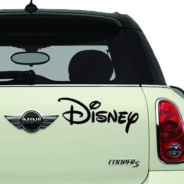 Walt Disney Script Black SCI-FI/Comics/Games Automotive Decal/Bumper Sticker