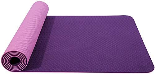 QZ 147258 Yoga Mat 183 x 80mm Multifunzionale ad Alte Prestazioni Antiscivolo Allenamento di Pilates Materassino Ginnico, Spessore di 6mm / 8mm ad Alta densità Materiale TPE con Tracolla