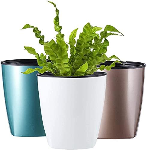 Dokimiya Self Watering Planter Plastic...