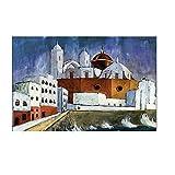 Shmjql Walter Gramatte Old Famous Master Artist Cádiz Lienzo póster Pintura Imagen Lienzo Impreso para decoración de Pared de habitación-60x80cmx1 sin Marco