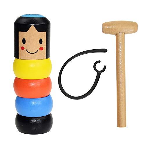 Vientiane Unbreakable Wooden Man Magic Toys 1 von Set, unsterbliche Daruma Puppe Magic Toys Set, lustige magische Requisiten, Japanisches traditionelles Spielzeug, Spielzeug Geschenk für Kinder