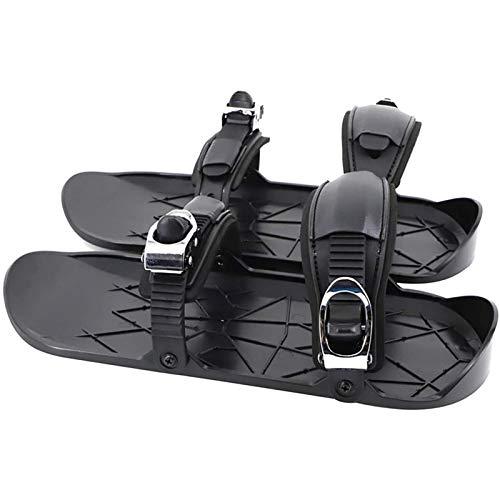 Zapatos Esquí Invierno Unisex, Mini Patín Esquí Portátil Esquí Pendiente, Zapatos Snowboard Cortos Viajes Al Aire Libre, Fijaciones Ajustables, Patines Trineo Cortos black-37-47EU