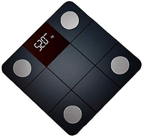 Shisyan Balanza industrial Balanza Electrónica Balanza de uso personal del hogar inteligente Escalas de pesaje de carga de grasa corporal escalas de las grasas Pequeño Salud de precisión Básculas digi