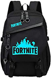 Night Luminous noctilucent Fortnite backpack Campus Student Schoolbag Travel Rucksack shoulder bag with USB Charging interface