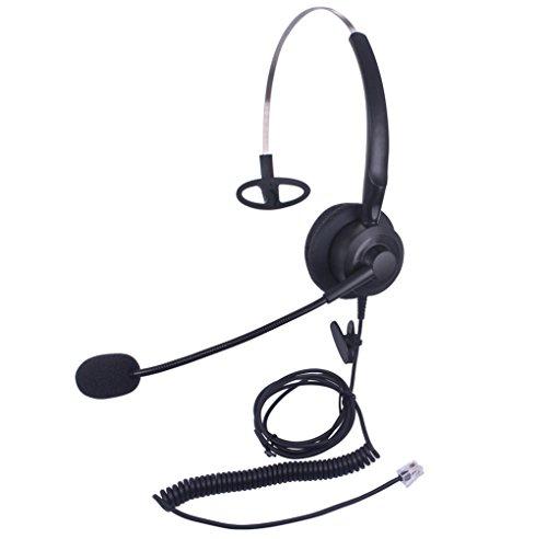 Xintronics Auriculares Teléfono Fijo Mono RJ9, Cascos con Cancelación de Ruido Micrófono para Avaya Mitel Polycom Nortel Norstar Meridian Adtran Gigaset InterTel MiVoice(X10A2)
