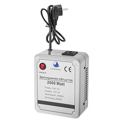 220V auf 110V Spannungswandler Transformator Wandler Umwandler Converter 230V AC (2000W)