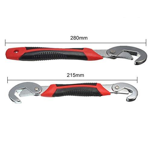 Schlüsselsatz Universalschlüssel 2 stücke 9-32mm Multifunktions Einstellbare Tragbare Drehmoment Ratsche Ölfilter Schraubenschlüssel Handwerkzeuge Schraubenschlüssel (Color : 1)
