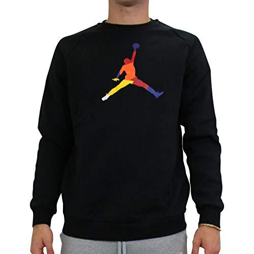 Nike M J SPRT DNA Hbr Fleece Crew - Long Sleeve Top Herren M Schwarz
