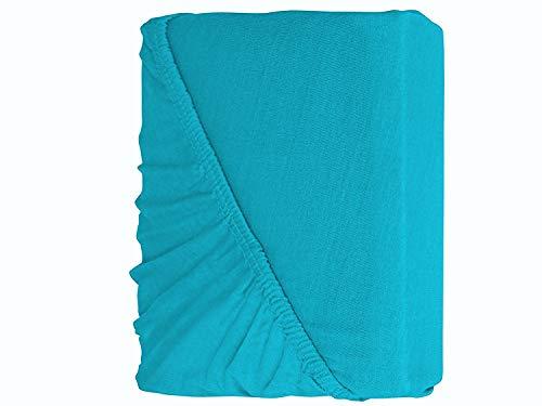 Müskaan Drap-housse pour lit à eau Turquoise 180-200 x 200-220 cm