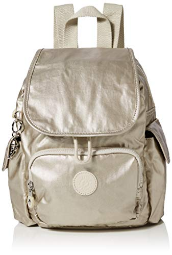 Kipling Damen City Pack Mini Rucksack, Gold (Cloud Metal), 27x29x14 Centimeters
