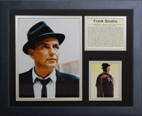 Legenden Sterben Nie Frank Sinatra gerahmtes Foto Collage, 11x 35,6cm