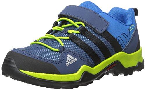 adidas outdoor AX2 CF-K, Shock Blue/Black/Semi Solar Slime, 4 M US Big Kid
