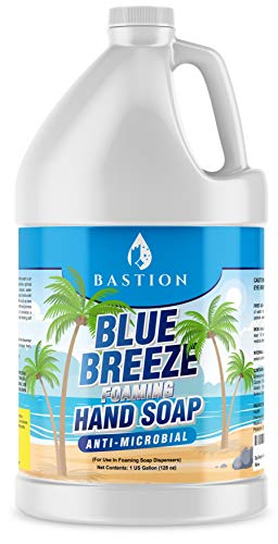 Blue Breeze Foaming Antimicrobial Hand Soap Refill 1 Gallon 128 oz Refreshing Clean Scent Bulk Hand WashMade In The USA by Bastion
