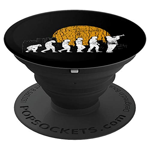 Trumpeter Evolution Jazz Music Trumpet PopSockets Grip and Stand for Phones and Tablets