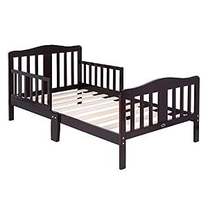 Bonnlo Contemporary Wooden Toddler/Kid Bed Frame Kids Bedroom Furniture