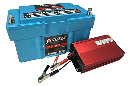 12V 100A リチウムディープサイクルバッテリー SE-121000 充電器コンビセット EVOTEC/エヴォテック