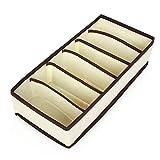 OIFFIY Caja de almacenaje 4 PCS Establecer Ropa Interior Bra Organizador Caja de Almacenamiento Beige Cajón Armario Organizadores Cajas for Ropa Interior Bufandas Socks Bra Caja de almacenajes