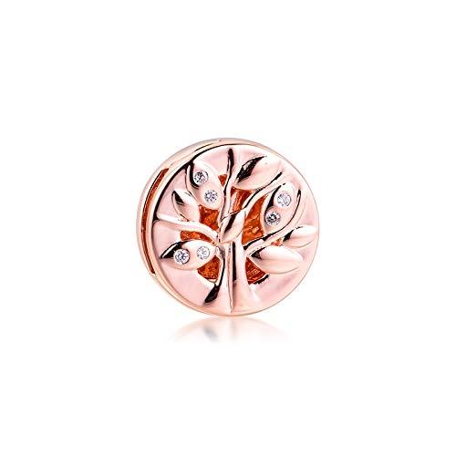 Pandora 925 Charm Silver Beads Charm Cuelga Las Mujeres Fit Reflexions Pulseras Family Tree Clip Original Para La Fabricación De Joyas Berloque