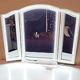 Tira de LED Blanca,Tira LED Blanca,Brillo Ajustable,Tira de Luces LED para Espejos Guardarropas Cama Habitación