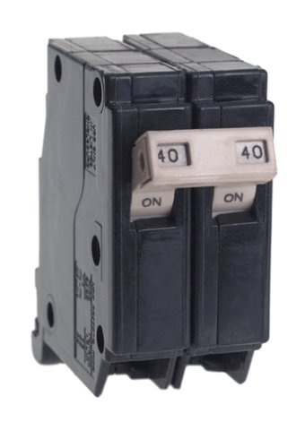 Connecticut Electric Cutler Hammer CH240 Circuit Breaker, 2-Pole 40-Amp, COLOR
