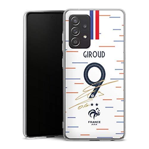 DeinDesign Hard Case kompatibel mit Samsung Galaxy A52 Schutzhülle transparent Smartphone Backcover Giroud Nationalmannschaft Trikot
