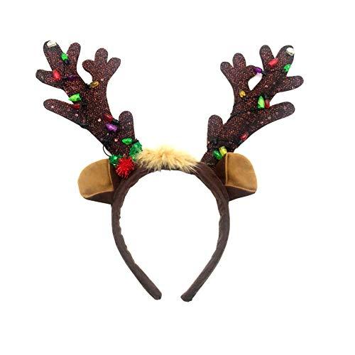 Sungpunet Navidad asta Diadema Reno Enciende Arriba