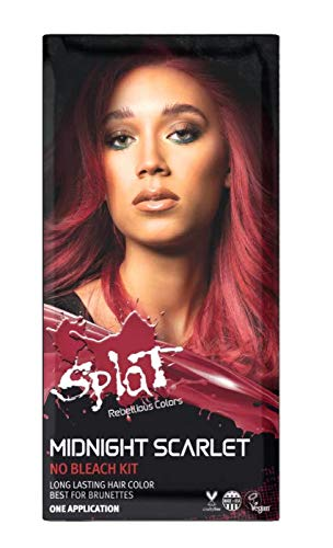 Splat | Midnight Complete Kit | Hair Dye | Semi-Permanent | Long Lasting | Vegan and Cruelty-Free (Midnight Scarlet)