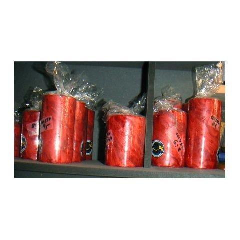 Höhe 60mm, Breite 50mm, marmorierte 25%-Bienenwachskerze rot