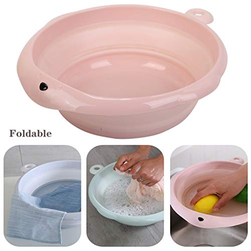 Sdfhh Bathroom Camp Kitchen Sink Collapsable Portable Silicone Collapsible Camp Wash Basin Water Storage for Camping Fishing Outdoor Travel Washing The Best Helper in The Bathroom