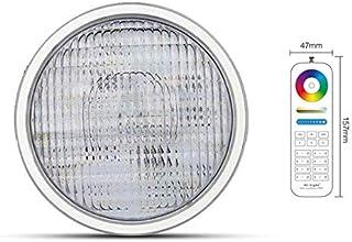 Lámpara LED PAR56 RGB + CCT, para piscina, para bajo el agua, con cambio de color y mando a distancia, color blanco