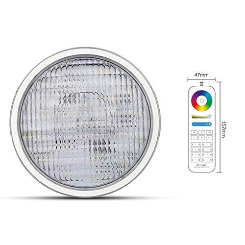 LED PAR56 RGB CCT zwembadlamp zwembadverlichting lamp zwembadverlichting lamp voor onderwater schijnwerper MiLight PW01 kleurverandering en wit incl. afstandsbediening
